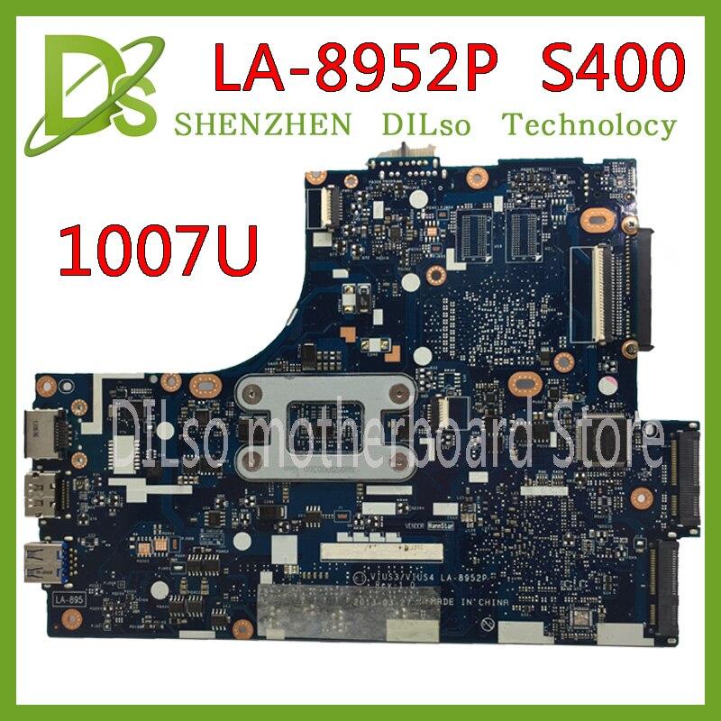 KEFU VIUS3 VIUS4 LA-8952P motherboard for lenovo Ideapad S400 laptop motherboard 1007u GM Test original mainboard kefu 13283 1 laptop motherboard for dell 3441 3541 test original mainboard apu gm