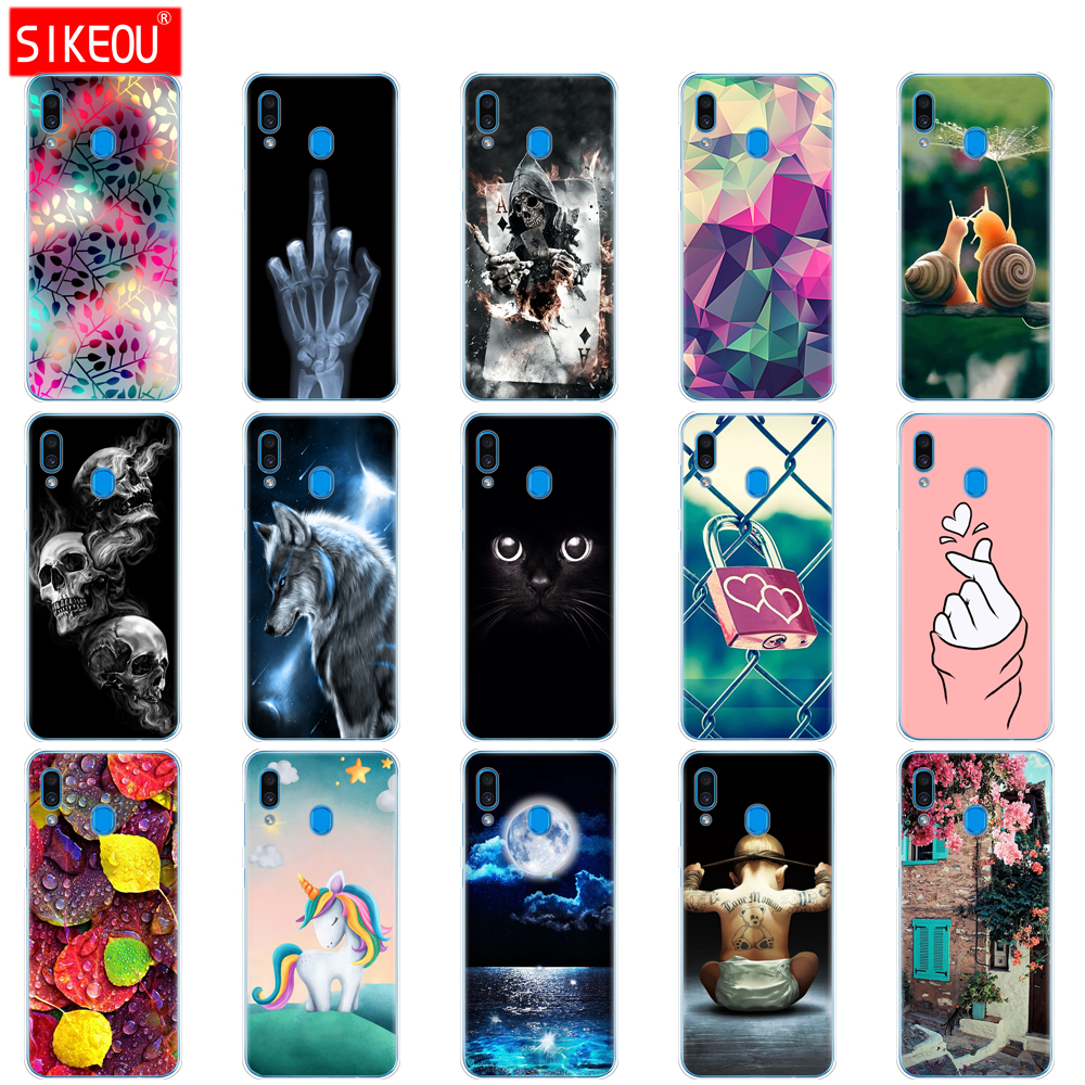 Case For <font><b>Samsung</b></font> <font><b>Galaxy</b></font> <font><b>A20</b></font> Case A20E Silicon back cover For <font><b>Samsung</b></font> <font><b>A20</b></font> A 20 2019 A205F A20E A202F Cover Soft Fundas bumper Cat image