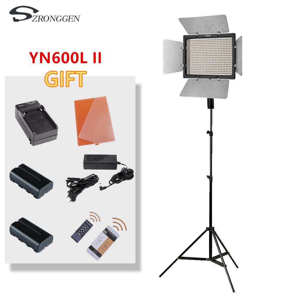 Yongnuo YN600L II YN600L II 600 LED video light panel 3200 5500K photography set charger battery