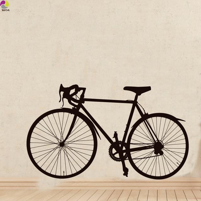 street bicycle wall sticker bedroom living room road bike ride