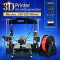 Grande tamanho 220*220*240mm de alta qualidade precisão de impressora reprap prusa i3 3d kit DIY com PLA Filamento 8 GB cartão SD e LCD para livre