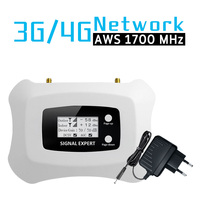 AWS 1700mhz Celular Signal Repeater 3G 4G 1700/2100mhz Booster UMTS LTE Band 4 1700 Amplifier North South America LCD Display