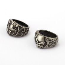 One Piece Ring Ace Vintage Silver Men Women Ring