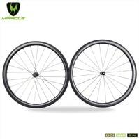 High Quality 100 18K Carbon Fiber 18K Kevlar Tubular 40mm Carbon Road Wheelset Cheap Bicycle Wheels