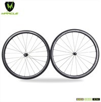 High Quality 100 18K Carbon Fiber 18K Kevlar Tubular 40mm Carbon Road Wheelset Cheap Bicycle Wheels