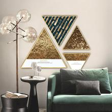 Nordic INS style Shaped decorative painting mural living room restaurant Hotel Background wall Golden glitter