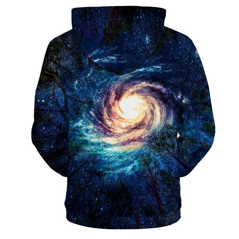 Cloudstyle 2019 3D Galaxy Druck Hoodies Männer Frauen Spirale Nebula Mode Heißer Verkauf Frühling Streetwear Harajuku Tops Plus Größe 5XL