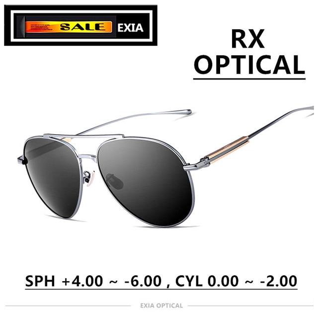 6b86402fefb Prescription Sun Glasses Men Brand Fashion Eyewear RX Ophthalmic Lenses  UV400 Polarized High Vision EXIA OPTICAL KD-39 Series