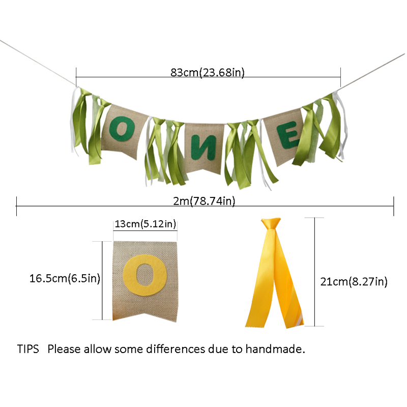Colorful Ribbon Banner Baby Shower First Birthday Party One/Two Flag Chair Nursery Garland Candy Bar Decoration