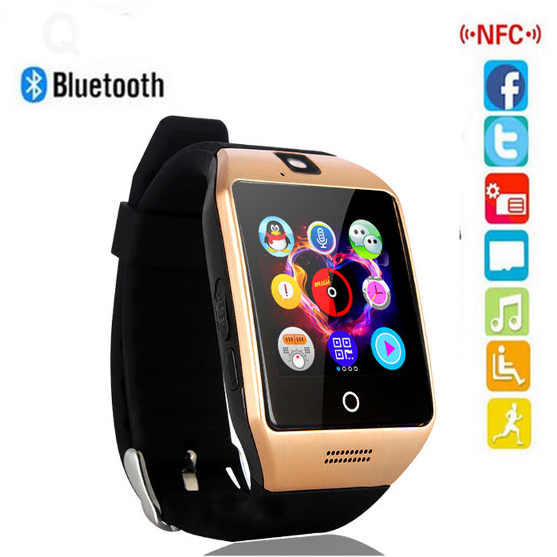 Smart Watch Men Q18 With Passometer Message Sports Tracker Support SIM Card Smartwatch For Android Phone PK A1 DZ09