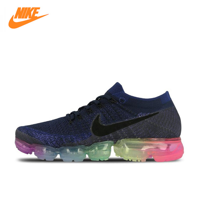 купить Nike Air VaporMax Be True Flyknit Breathable Men's Running Shoes,Original New Arrival Official Sports Sneakers Outdoor Athletic по цене 7007.1 рублей