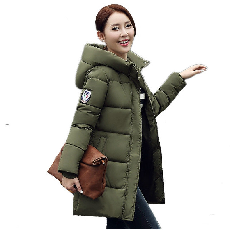 цены 2017 New Womens Winter Jackets Thick Warm Cotton Winter Coat Women Loose Wadded Cotton-padded Hooded Jacket Parkas For Women