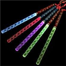 20pcs/lot LED glowing arcylic stick colors changing led flash light glow stick magic wand concert waving props luminous stick цена
