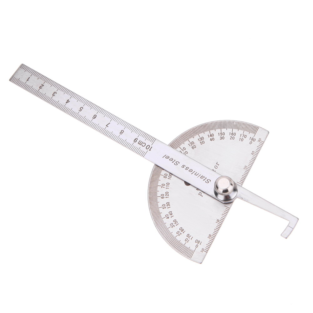 stainless steel 180 degree protractor angle finder rotary measuring ruler for woodworking tools for measuring angles in level measuring instruments from
