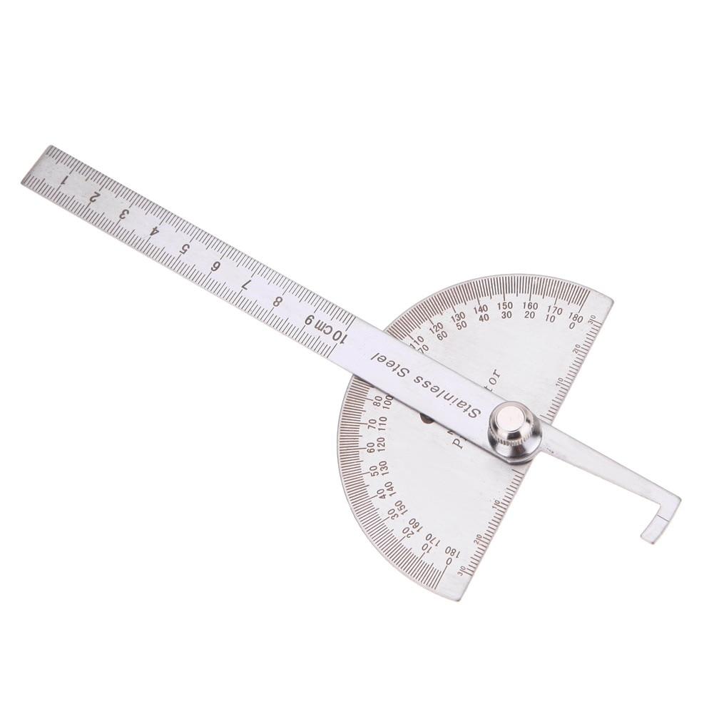 Obrotowa linijka pomiarowa ze stali nierdzewnej 180 stopni Kątomierz - Przyrządy pomiarowe - Zdjęcie 5