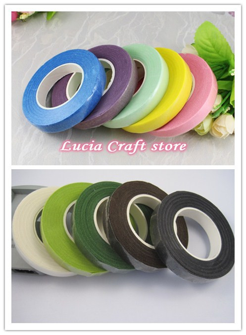 Lucia Crafts 1piece/lot ,30 Yards/piece  1.1cm Width Paper Tape For Florist Gift Wrapping Accessories I1009
