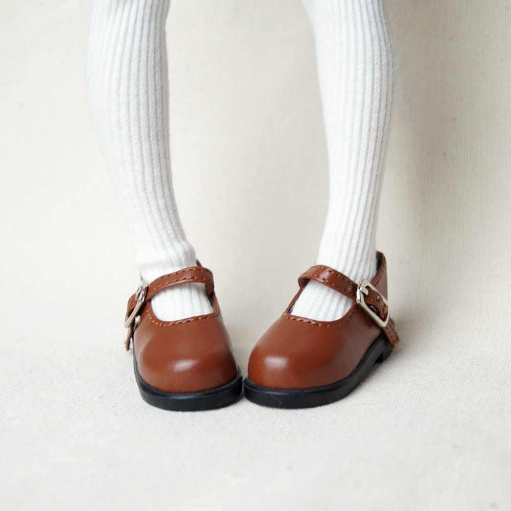 """BJD кукла коричневая Синтетическая кожаная обувь на плоской подошве для 1/4 1/6 11 """"27 см 17"""" 44 см высота BJD кукла MSD YOSD DK DZ AOD кукла бесплатная доставка"""