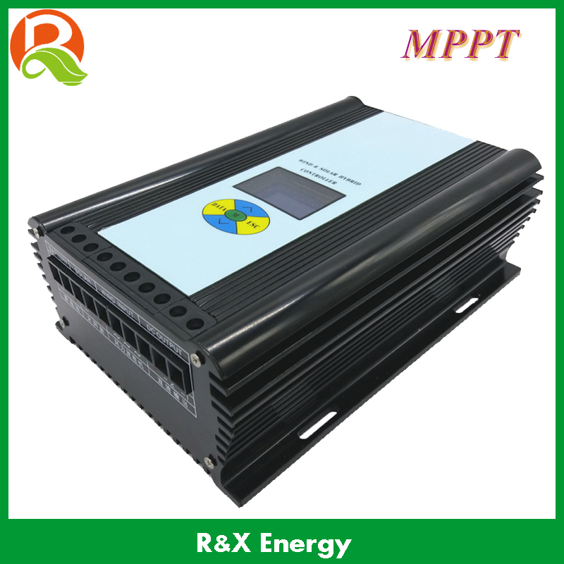 MPPT 600w wind/solar hybrid controller for 600w max wind generator and 300w max solar panel 12V/24V auto distinguish 600w wind solar hybrid controller mppt charging mode 12v 24v auto distinguish off grid battery controller