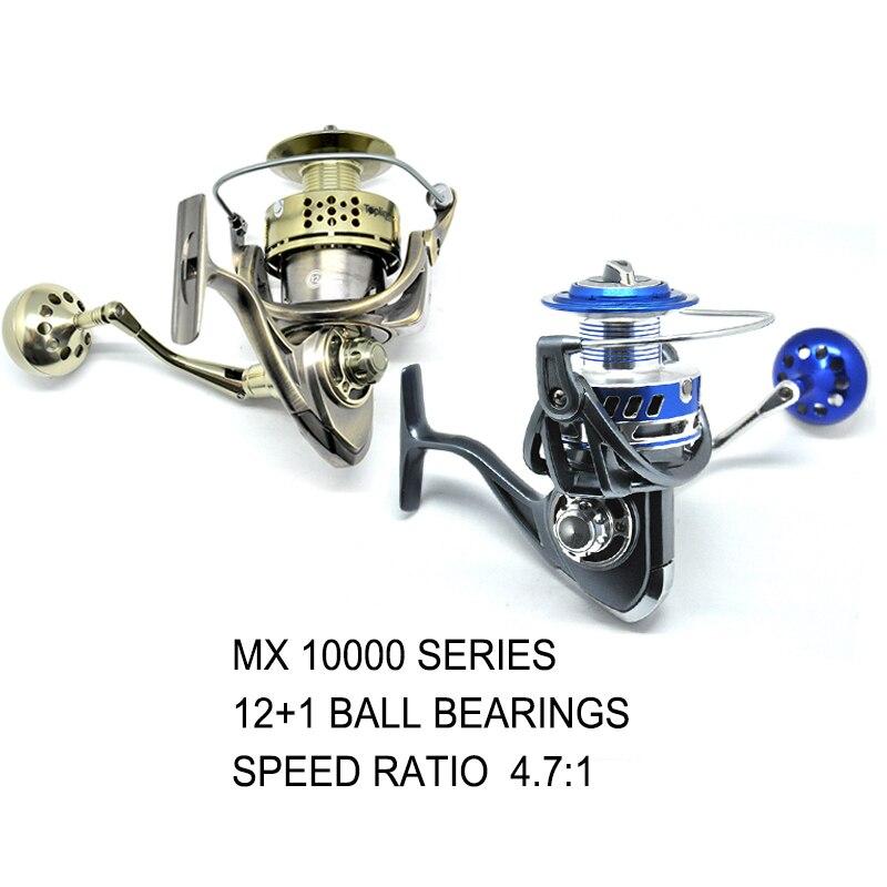 OLOEY 10000 12 1BB Spinning Fishing Reel Fly Wheel Sea Fishing Carp Fishing Gear Ratio 4