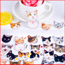 25 pcs Big face cat personalized scrapbook Stickers scrapbooking material sticker happy planner decoration craft