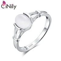 CiNily Authentic 925 Sterling Silver Latesst Twilight Bella Moonstone Wholesale for Women Jewelry Wedding Ring Size 6-10 SR001