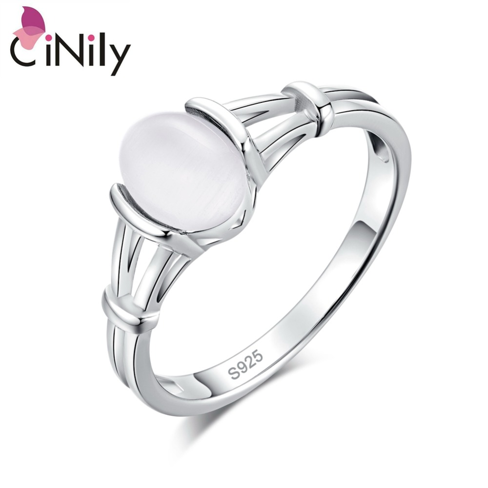 CiNily Authentic 925 Sterling Silver Latesst Twilight bella Moonstone All'ingrosso per i Monili Delle Donne Wedding Ring Size 6-10 SR001