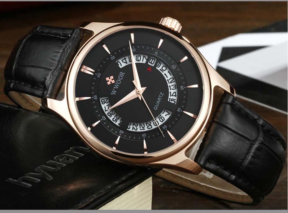 New Quartz Mens Watches Top Brand Luxury Complete Calendar Men\'s Wrist Watch Genuine Leather Strap Men Wristwatches  2019 (3)