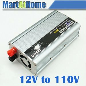 Free Shipping 1000W Auto Truck Boat Power Inverter 12V DC to 110V AC USB Modified wave #10199 @CF