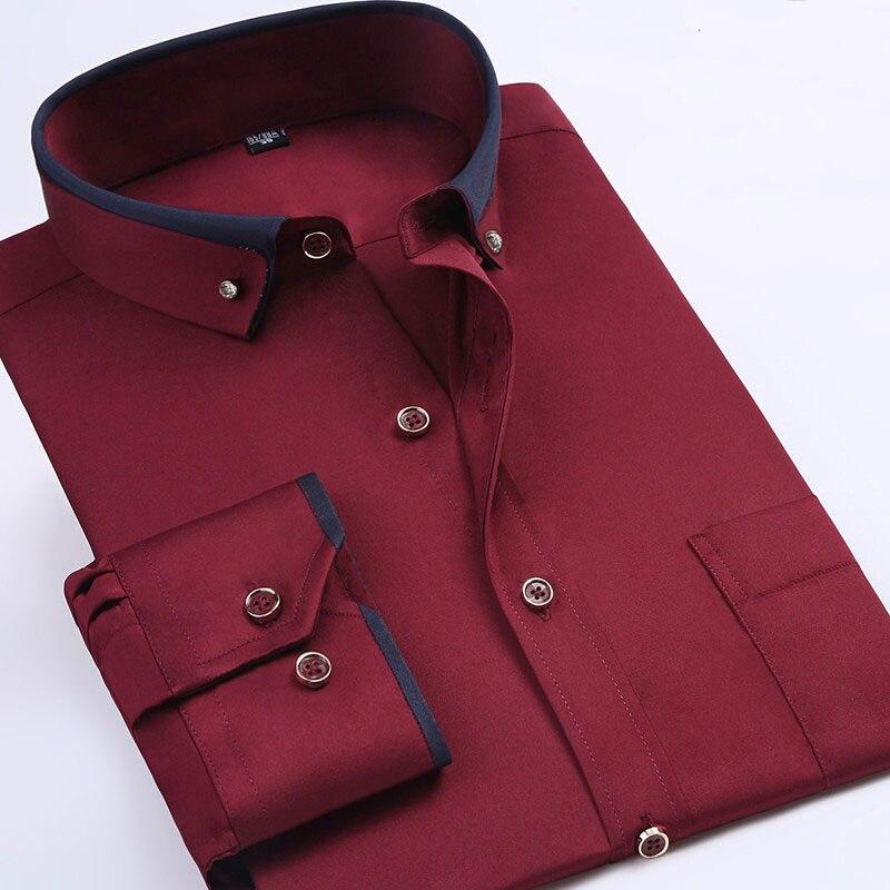 Comprar Camisas Hombre Tallas Grandes 8xl Manga Larga Solido Hombres Vestido Formal Social Camisa Masculina Online Baratos Ikaliao