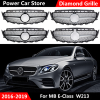GTR Style Car Front Bumper Grill Racing Grills For Mercedes For Benz W213 E200 E300 E400 E43 For AMG 2016 2019 Without Emblem