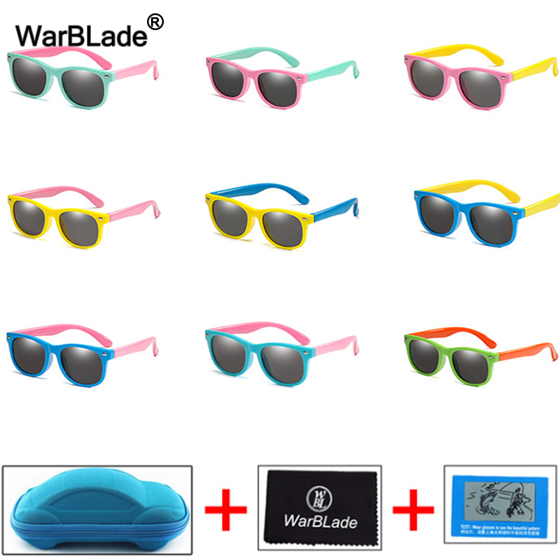 Children Kids Polarized Sunglasses Boys Girl Baby Unbreakable Silicone Safety Sun Glasses 100% UV400 Eyewear Child Shades Oculos