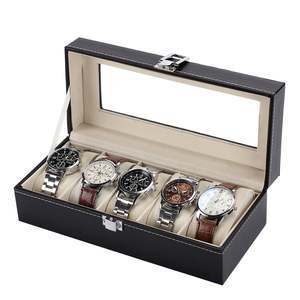 Standard 5 Slots Fashionable Watch Box Soft PU Leather Watch Storage Box Watch Display Slot Case Box Case DROPSHIPPING