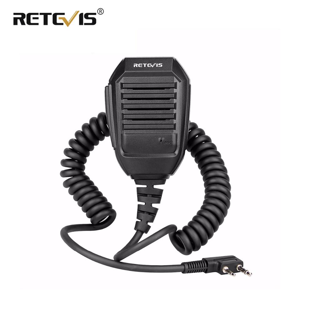 Retevis RS-113 Handy Speaker Microphone 2000D Kevlar Cable For Kenwood Baofeng UV5R UV82 H777 RT21 RT22 RT3 RT5R Walkie Talkie(China)