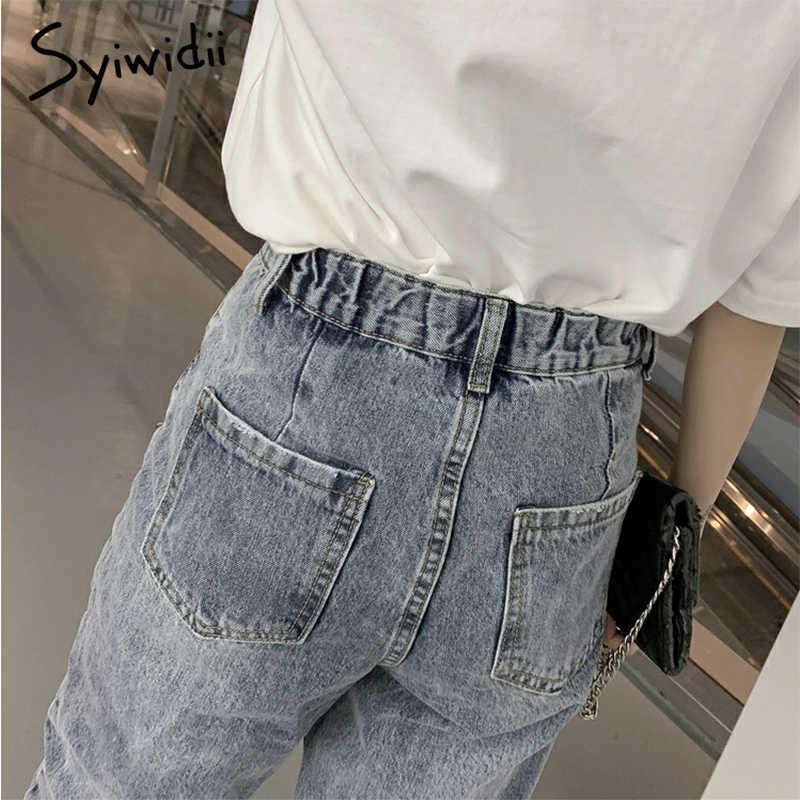 Джинсы с высокой талией для мам, женская одежда, уличная одежда, Джинсы бойфренда для женщин, винтажные джинсовые штаны-шаровары 2019, горячая Распродажа, мода