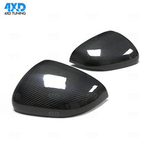 цена на New A Class Mirror Cover For Mercedes W177 Carbon Side Rear View Mirror Case Replacement Caps Gloss Black styling 2018 2019