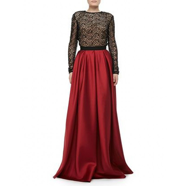 ea011656d4 Gorgeous Wine Red Satin Maxi Skirts Women A Line Floor Length Simple  Elegant Long Skirt Personalize Adults Skirt