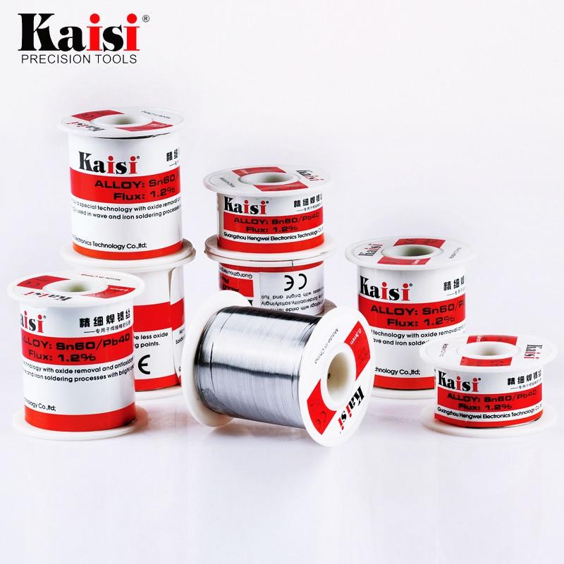 Kaisi 1.2% Flux Rosin Core Pb Solder Wire Sn60/Pb40 per la Saldatura Funziona (0.3mm/0.4mm/0.5mm/0.6mm Opzionale)