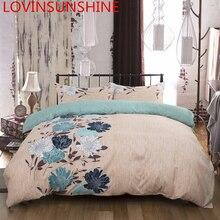 LOVINSUNSHINE Quilt Abdeckung Set King Size Tröster Bettwäsche sets Doppel Blume Bettbezug AB08 #