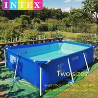 Intex oversized família adulto suporte piscina engrossado grandes crianças inflável verão piscina dobrável inflável