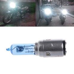 Motocykl DC 12V 35W BA20D reflektor żarówka halogenowa ksenonowe białe światło akcesoria samochodowe| |   -
