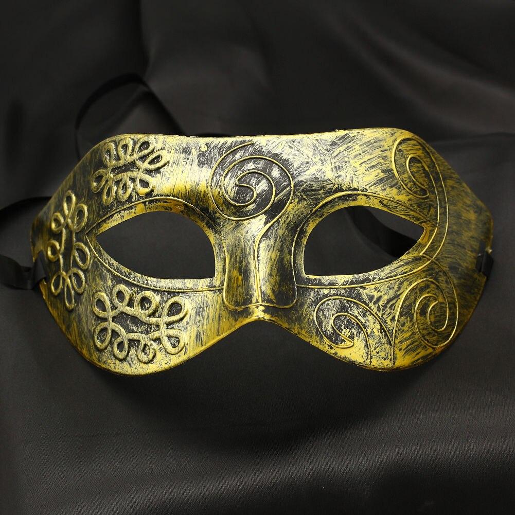 Красивый древний греческий и Римский воины маскарад Хэллоуин маска серебро золото полированный античный шар маска Прямая поставка