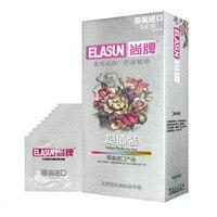 Шт./упак. 100 ELASUN ультра тонкий контрацепции устройства большой масло натуральный латекс резиновые презервативы Секс игрушки для мужчин