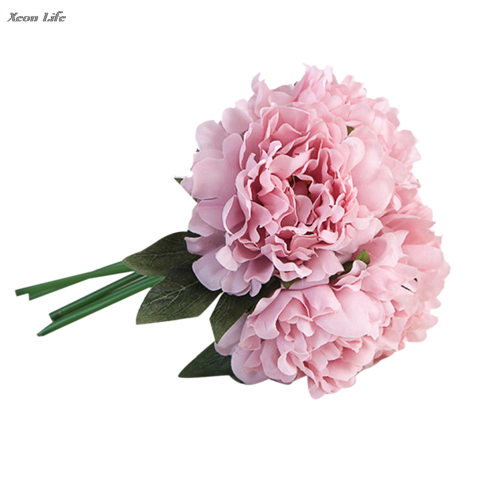 2017 New Arrival Artificial Silk Fake Flowers Peony Floral Wedding