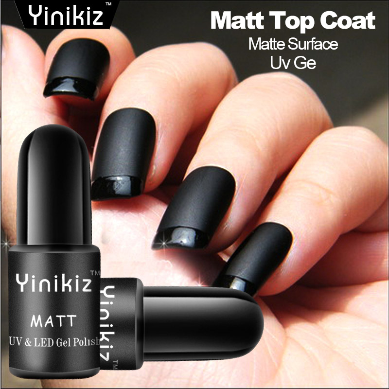 Yinikiz Black Bottle Matt Top Coat Gel Nail Polish French Tips Nail ...