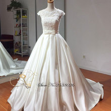Liyuke A-line Wedding Dress Sleeveless Bride Dresses