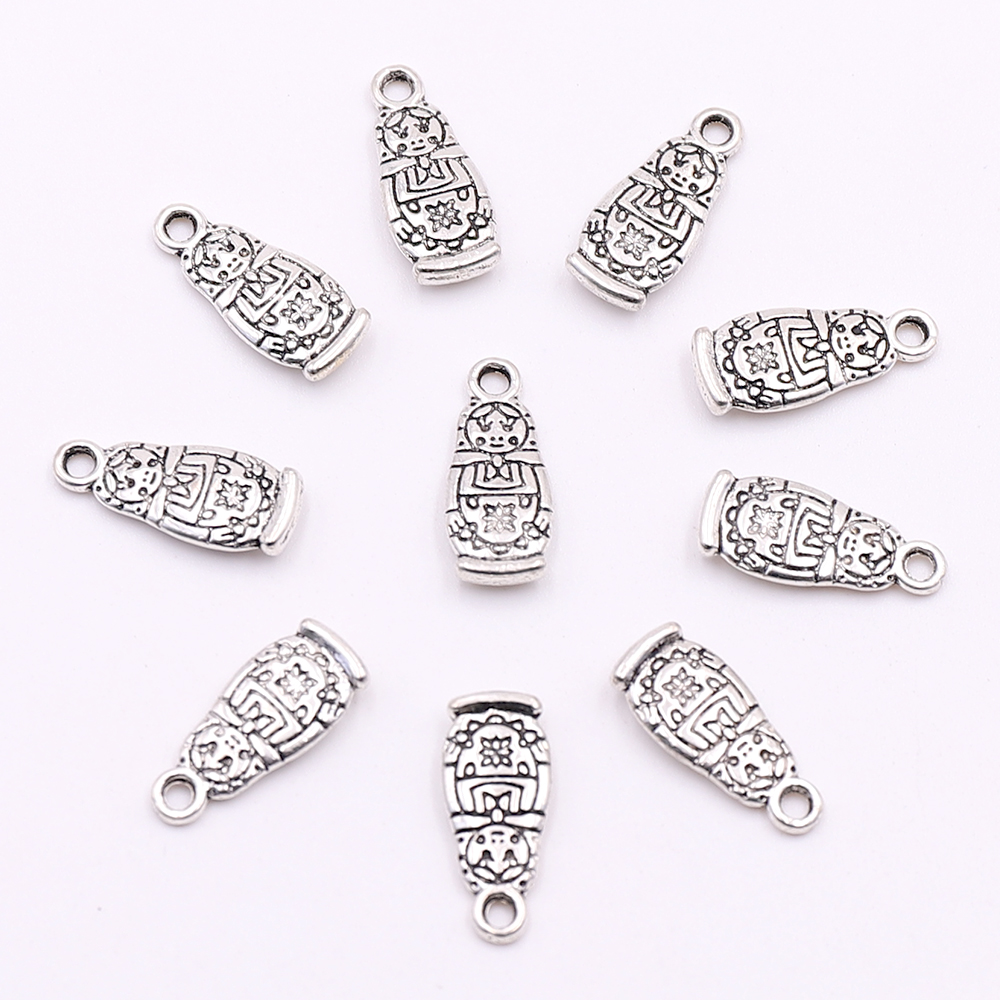 4pcs Girl Charm Tibetan Tibet silver Charms Pendants DIY Jewellery Making crafts