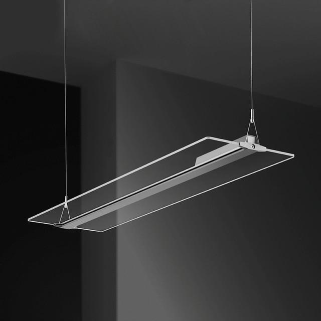 US $405.0  Led Rahmenlose lichtleiterplatte droplight wohnzimmer restaurant  Hotels büro kristall kronleuchter LED panel licht Pendelleuchte in Led ...