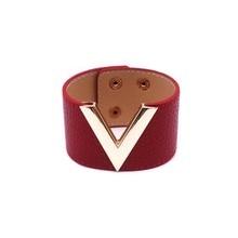 V Style Leather Bracelet
