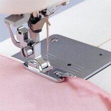 1 piezas laminado dobladillo Curling prensatelas para máquina de coser Singer maquinas de coser accesorios de venta caliente