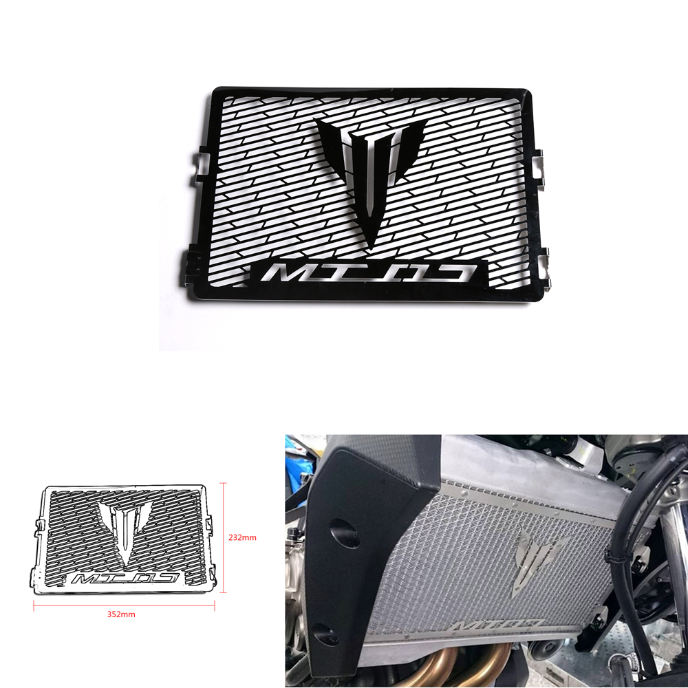 Motorcycle Accessories Radiator Bezel Grille Grill Guard Cover Protector Protection For Yamaha MT07 MT-07 FZ07 FZ-07 2014-17 for yamaha fz09 fz 09 mt 09 mt09 2013 2014 2015 motorcycle radiator protective cover grill guard grille protector protection